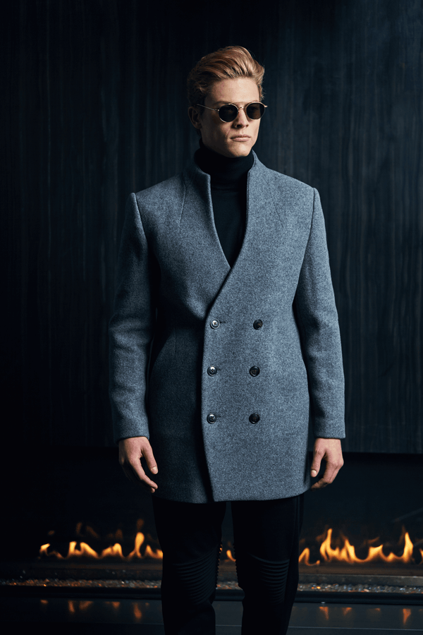 Nil Double Breasted Peacoat