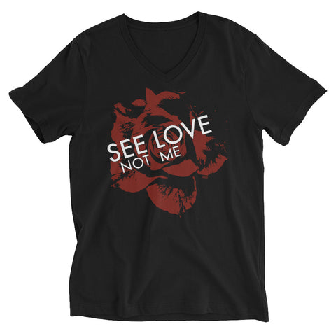 """See Love"" Mens/Unisex V-Neck Tee"