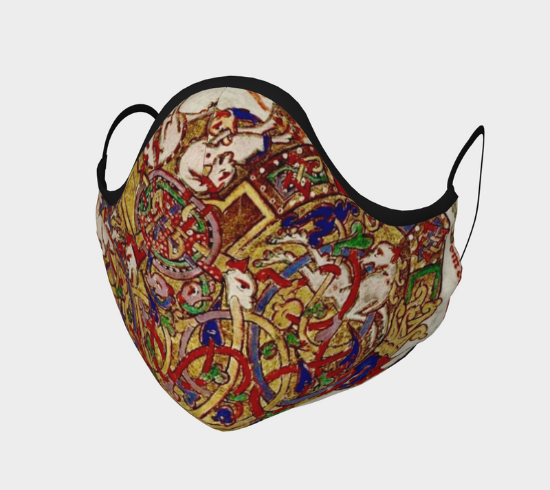 Medieval Manuscript Cotton Sateen Face Cover - A Circus of Light