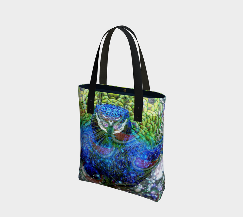 Peacock Tote Bag - A Circus of Light