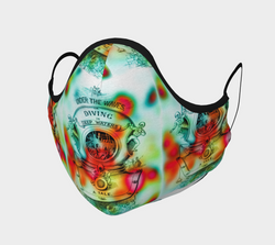 Under the Waves Cotton Face Mask - A Circus of Light