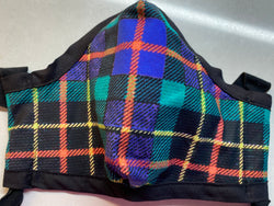Steventon Tartan Cotton Sateen Face Cover - A Circus of Light