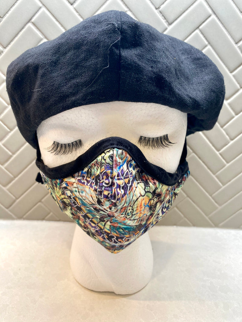 Grace and Favor Cotton Sateen Face Cover - A Circus of Light
