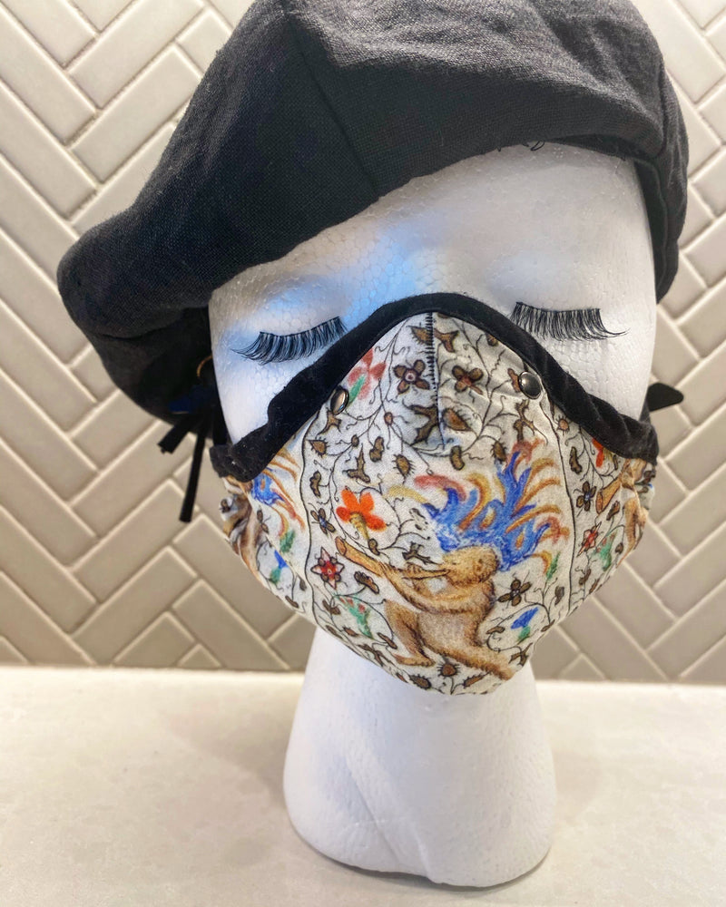 Medieval Monkey Cotton Sateen Face Cover - A Circus of Light