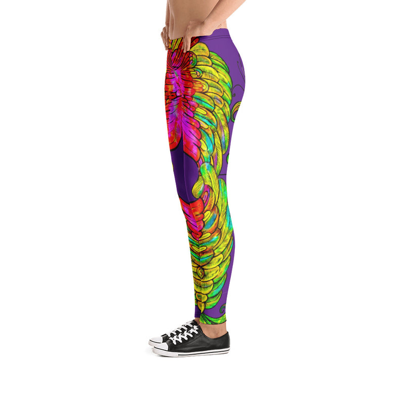 Phoenix Purple Leggings - A Circus of Light