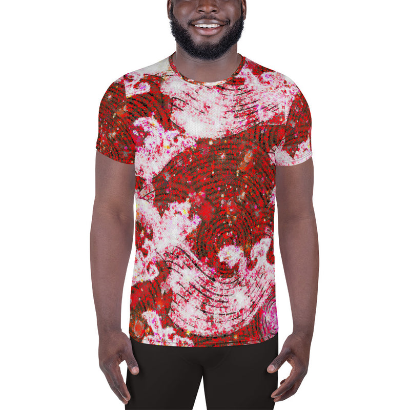 Ruby Waves Men's Athletic T-shirt - A Circus of Light