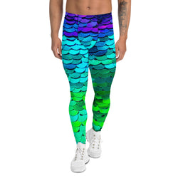 Men's Merman Turquoise, Green and Purple Leggings - A Circus of Light