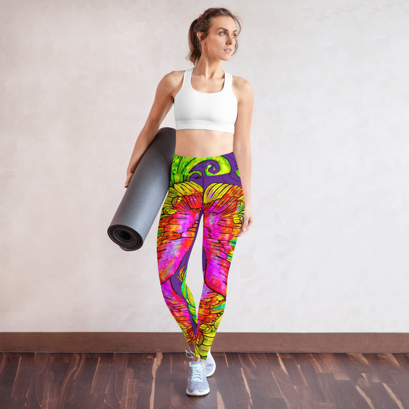 Purple Phoenix Yoga Leggings - A Circus of Light