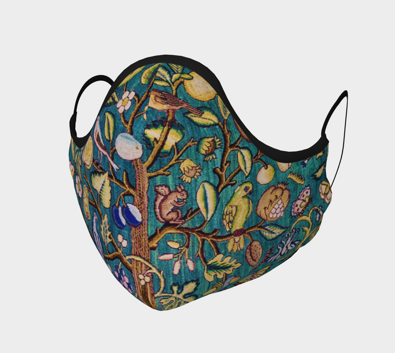 Tree of Life Tapestry Cotton Sateen Face Cover - A Circus of Light