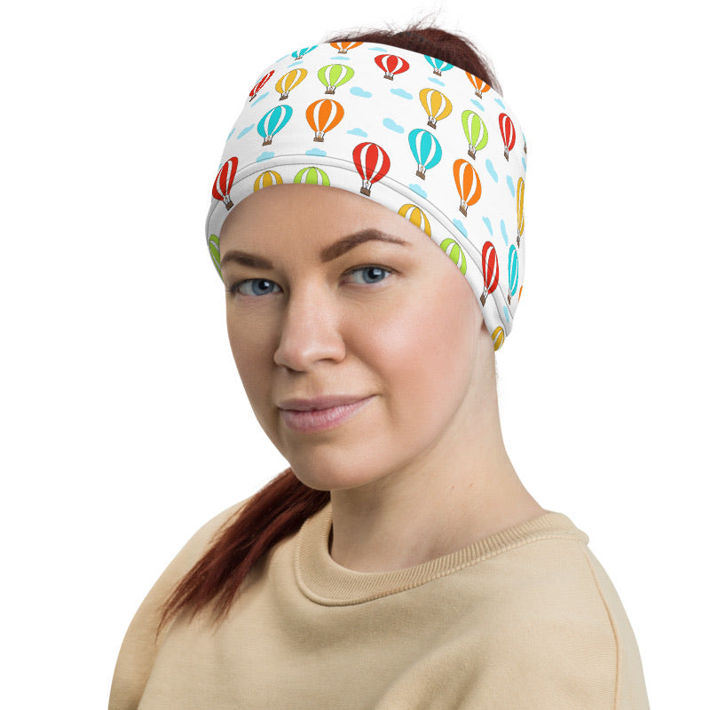 Animals in Hot Air Balloons neck gaiter Headband - A Circus of Light
