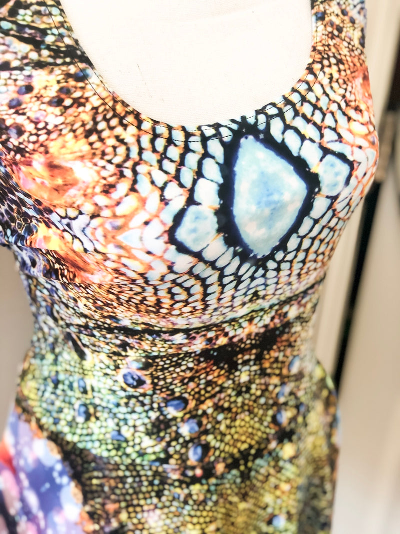 Iguana Bodycon Dress - A Circus of Light