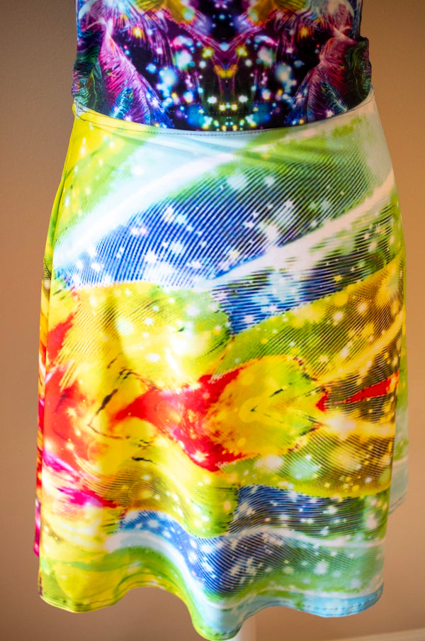 Macaw Flare Skirt - A Circus of Light