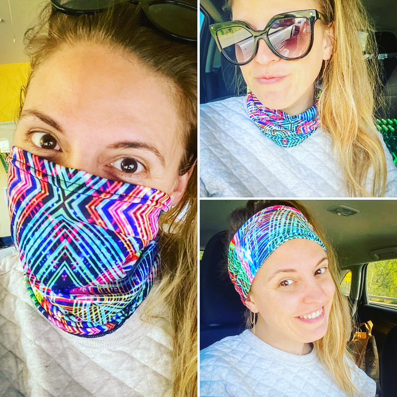 Cadillac Rainbows Neck Gaiter Headband - A Circus of Light