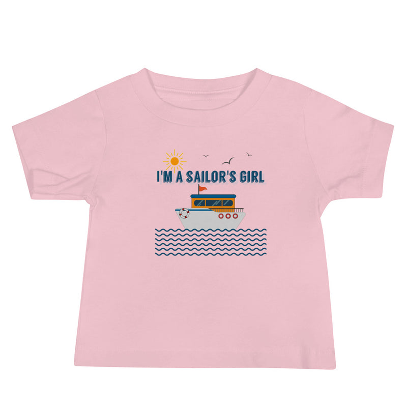 I'm a Sailor's Girl Baby Jersey Short Sleeve Tee