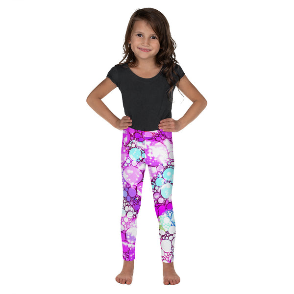 colorful, soft, cozy, unique patterns, quality polyester spandex kids leggings a circus of light