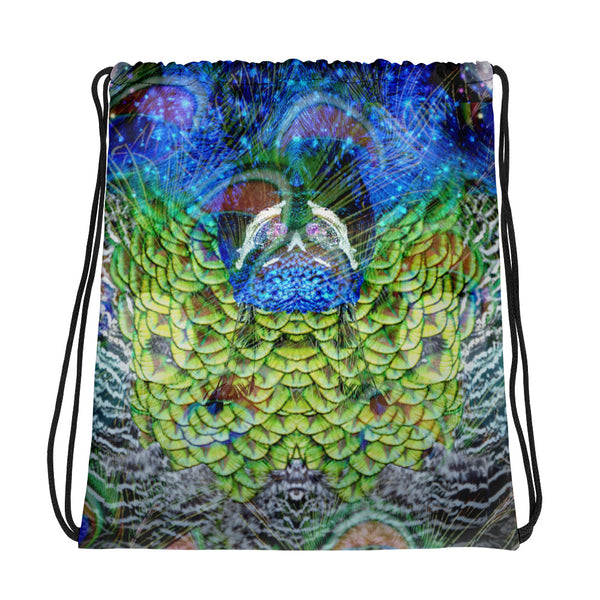 Peacock Drawstring bag - A Circus of Light
