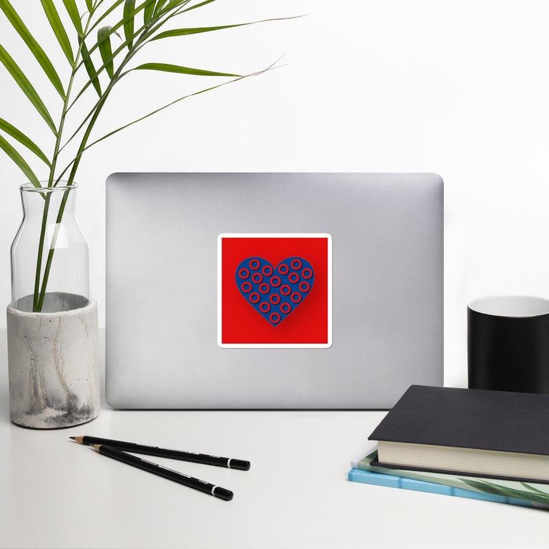 Fishman Donuts Heart Sticker - A Circus of Light