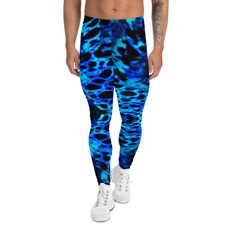 Mike's Pants Blue Poison Frog Men's Leggings - A Circus of Light