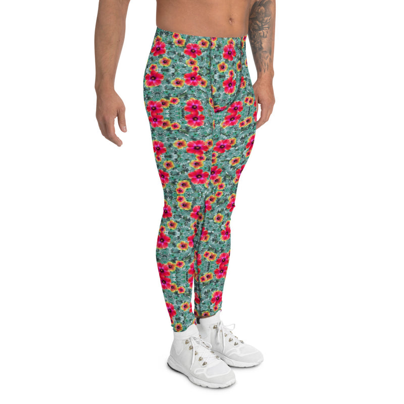 Hibiscus Men's Leggings - A Circus of Light