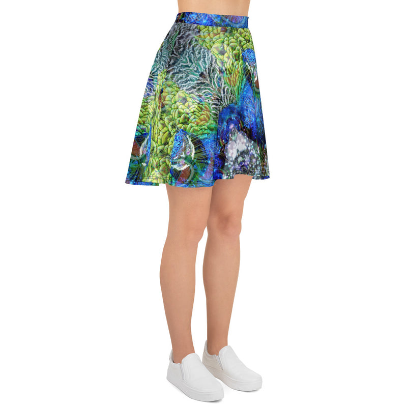 Peacock Skater Skirt - A Circus of Light