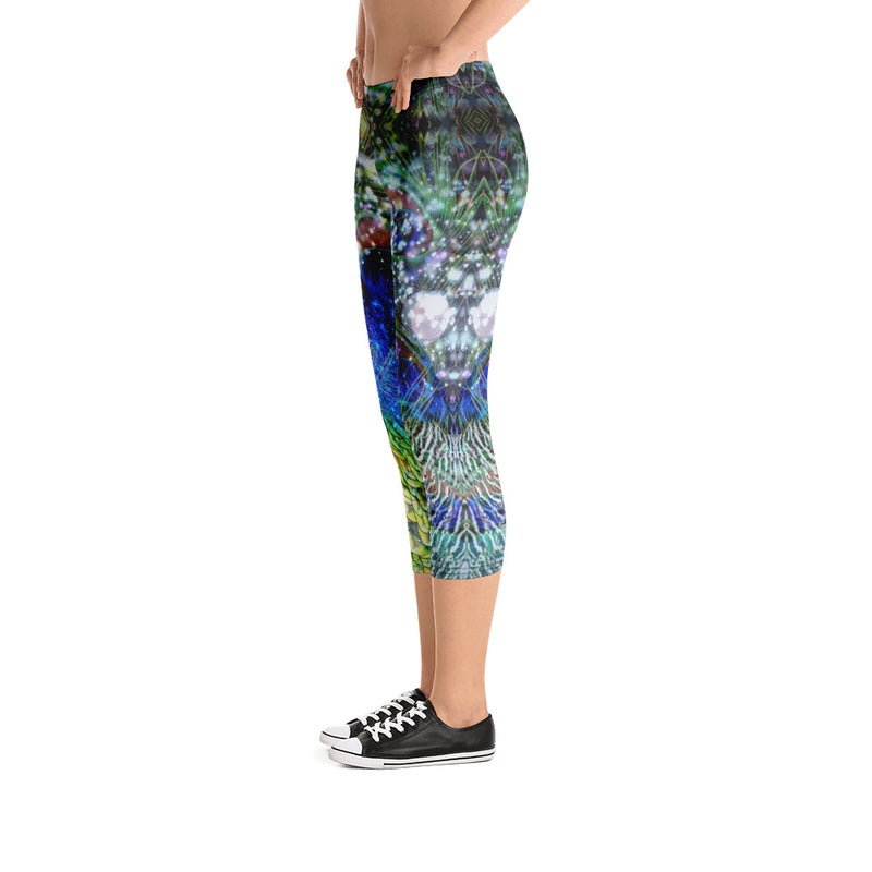 Peacock Capri Leggings - A Circus of Light