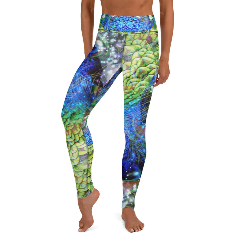Peacock Yoga Leggings - A Circus of Light