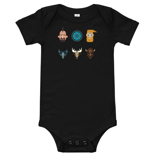 Viking Warriors Baby One Piece - A Circus of Light