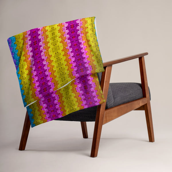 Granny Knit Throw Blanket - A Circus of Light