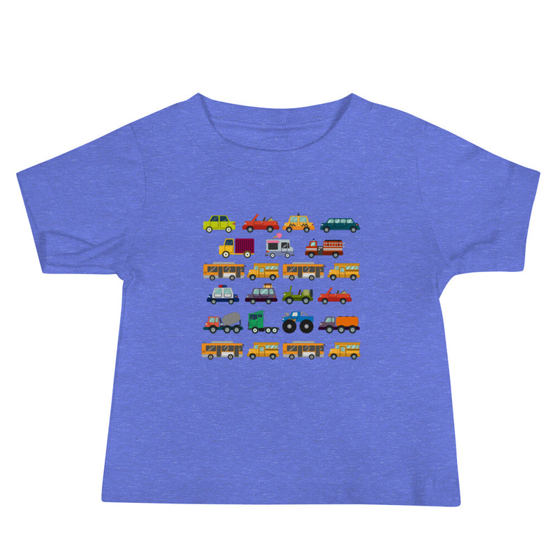 Cars, Trucks, Buses Baby Jersey Short Sleeve Tee
