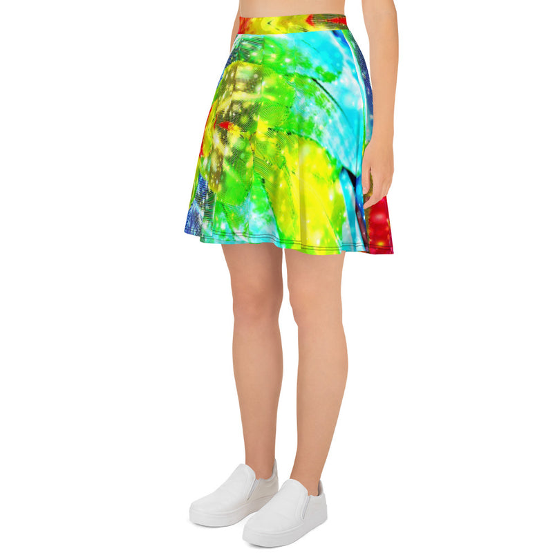 Macaw Skater Skirt - A Circus of Light
