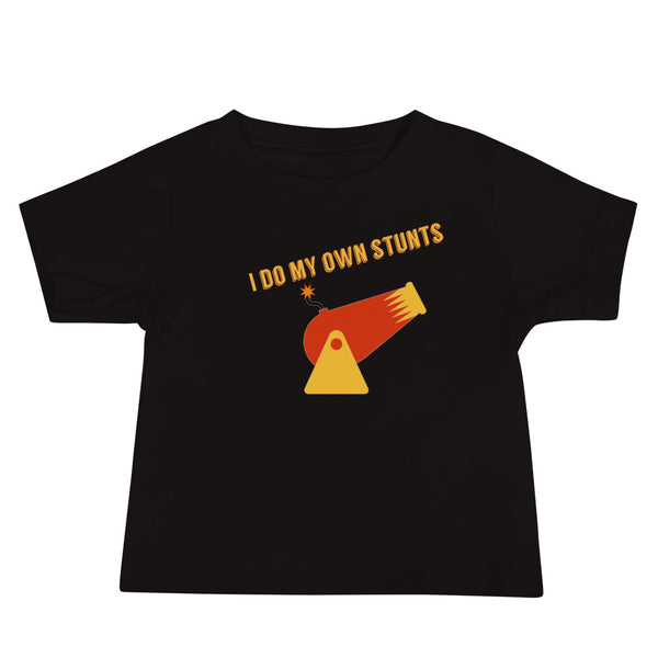 I Do My Own Stunts Baby Jersey Short Sleeve Tee - A Circus of Light