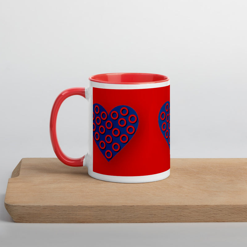 Fishman Donuts Heart Mug with Red Inside - A Circus of Light