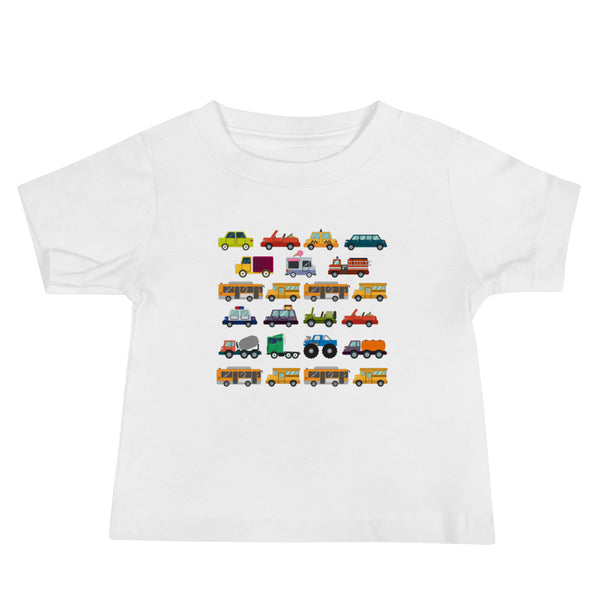 Cars, Trucks, Buses Baby Jersey Short Sleeve Tee - A Circus of Light