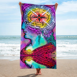 Faculties and Signs Beach Towel - A Circus of Light