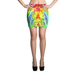 Macaw Bodycon Skirt - A Circus of Light