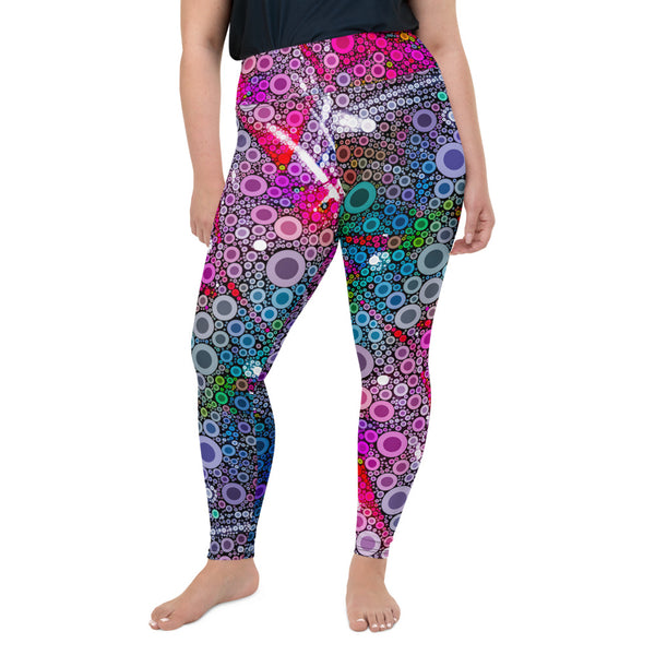 Shadow Glides Plus Size Leggings - A Circus of Light