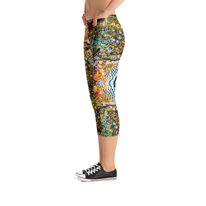 Iguana Capri Leggings - A Circus of Light