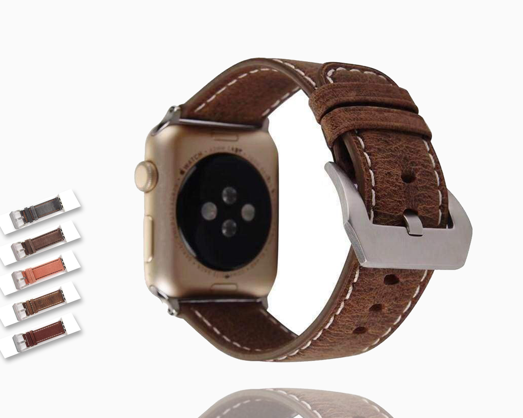 Watches Genuine Leather  Apple watch band,  iwatch Series 1 2 3 4 5  44mm/ 40mm/ 42mm/ 38mm - USA Fast Shipping