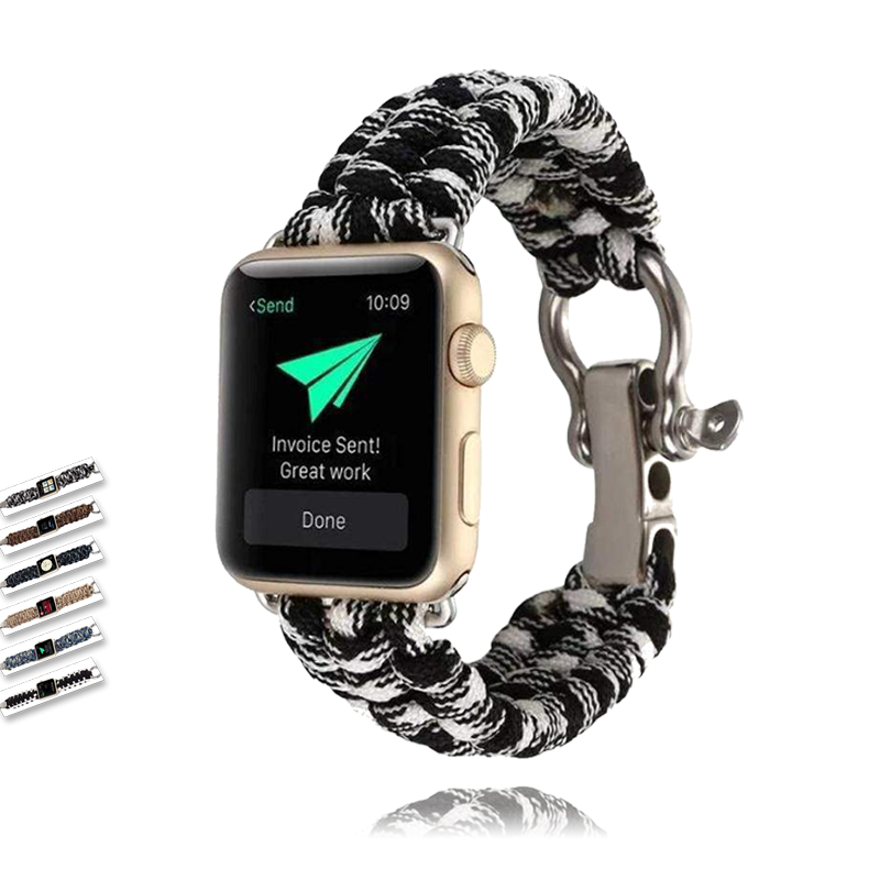 Watches Umbrella rope watch strap band for apple watch Series 1 2 3 4 5 iwatch 44mm/ 40mm/ 42mm/ 38mm bracelet for old customers - USA Fast Shipping