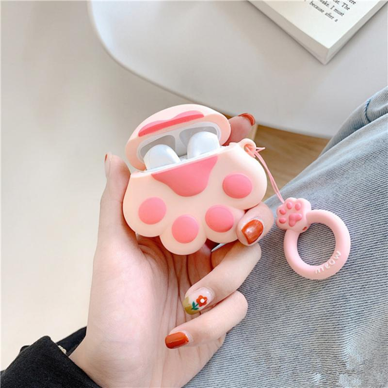 Earphone Accessories 1PCS For Airpod Headset Cute Cat Cartoon for Apple AirPods Case for Airpods2 Cover Wireless Bluetooth Headset Storage Box Cover
