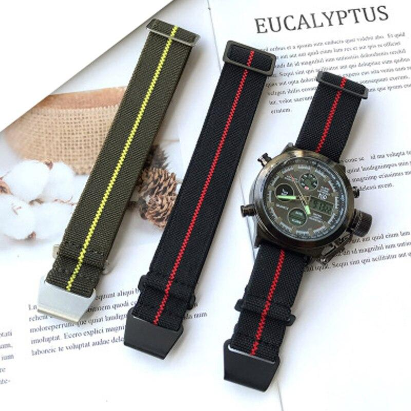Watchbands 20mm 22mm Nylon Elastic Galaxy Watch Strap Band Sport Watch Band for Amazfit Huami Watch Nylon Watch Replacement