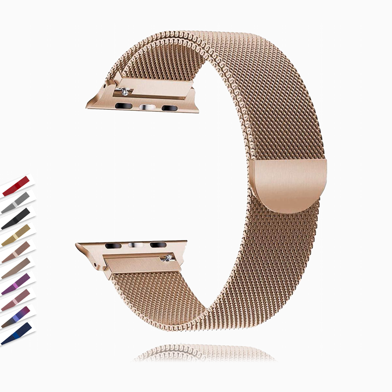 Apple Apple Watch band Milanese mesh magnetic sport Loop stainless steel metal  Series 5 4 3,  Iwatch band 42mm 44mm 38mm 40mm link Bracelet Watch band -  USA USPS Fast Shipping
