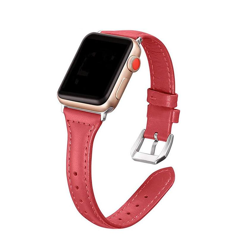 Apple Pulseira strap For apple watch 5 4 3 2 1 42mm 38mm 44mm 40mm belt for iWatch band leather Bracelet Accessories women's - USA Fast Shipping
