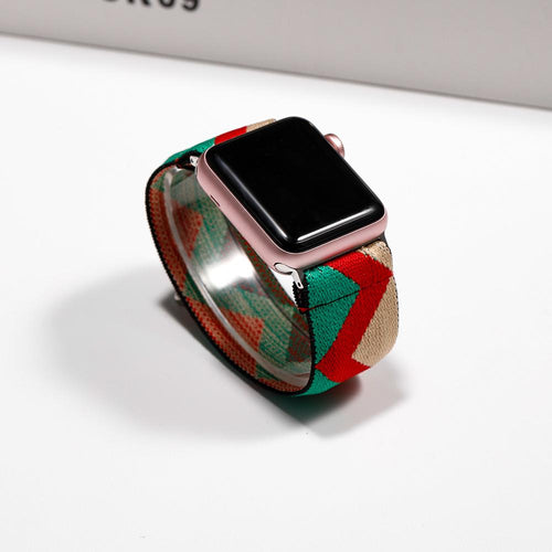 Apple Floral flower watch band, Print Smart iWatch strap , 44mm, 40mm, 42mm, 38mm, Series 1 2 3 4