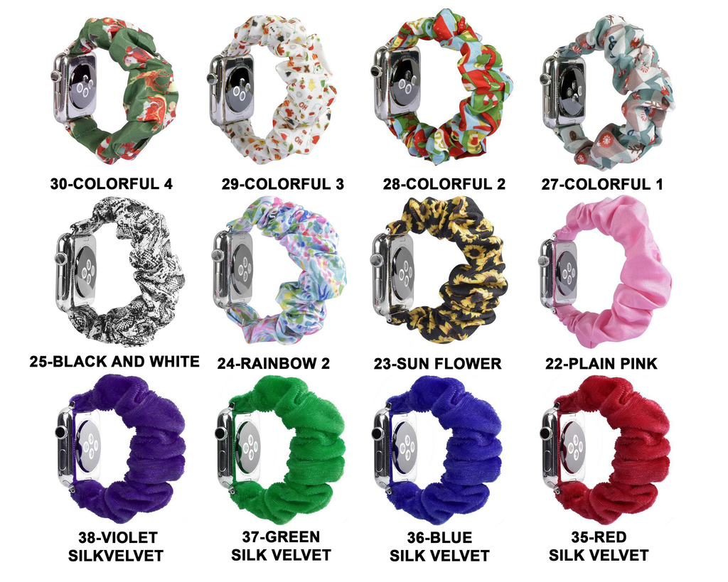 Home Sale! - Scrunchie Elastic Apple Watch stretch band,  iwatch 42mm 38 mm 44mm 40mm, Series 5 4 3