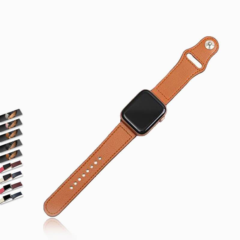 Watchbands Genuine leather loop strap for apple watch band 42mm 44mm apple watch 6/5/4 38mm 40mm iwatch 3/2/1 correa replacement bracelet