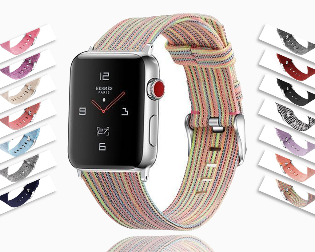 Home Strap for Apple watch 44mm/40mm 42mm/38mm nylon watchband leather bracelet belt 5 4 3 2 1 men women's iwatch accessories - US Fast Shipping
