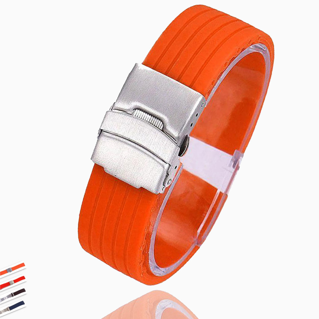 Watchbands New Hot Rubber Watch Strap Band Deployment Buckle Waterproof Watchband 16mm,18mm, 20mm, 22mm, 24mm|Watchbands| Men Women Unisex Sports