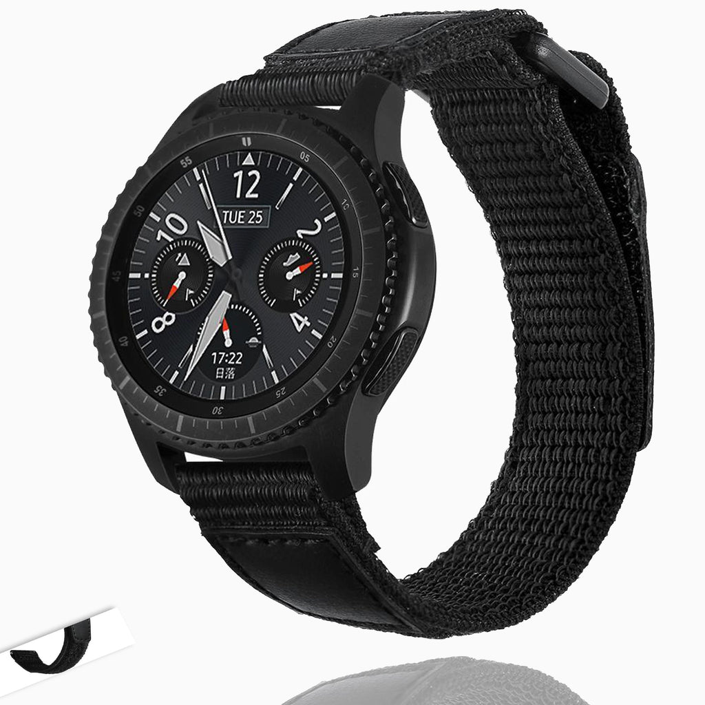 Watchbands Black / For Samsung Gear S3 Sport Nylon watch strap For Samsung Gear S3 frontier/classic galaxy watch 46mm  22mm watch band bracelet S3|Watchband
