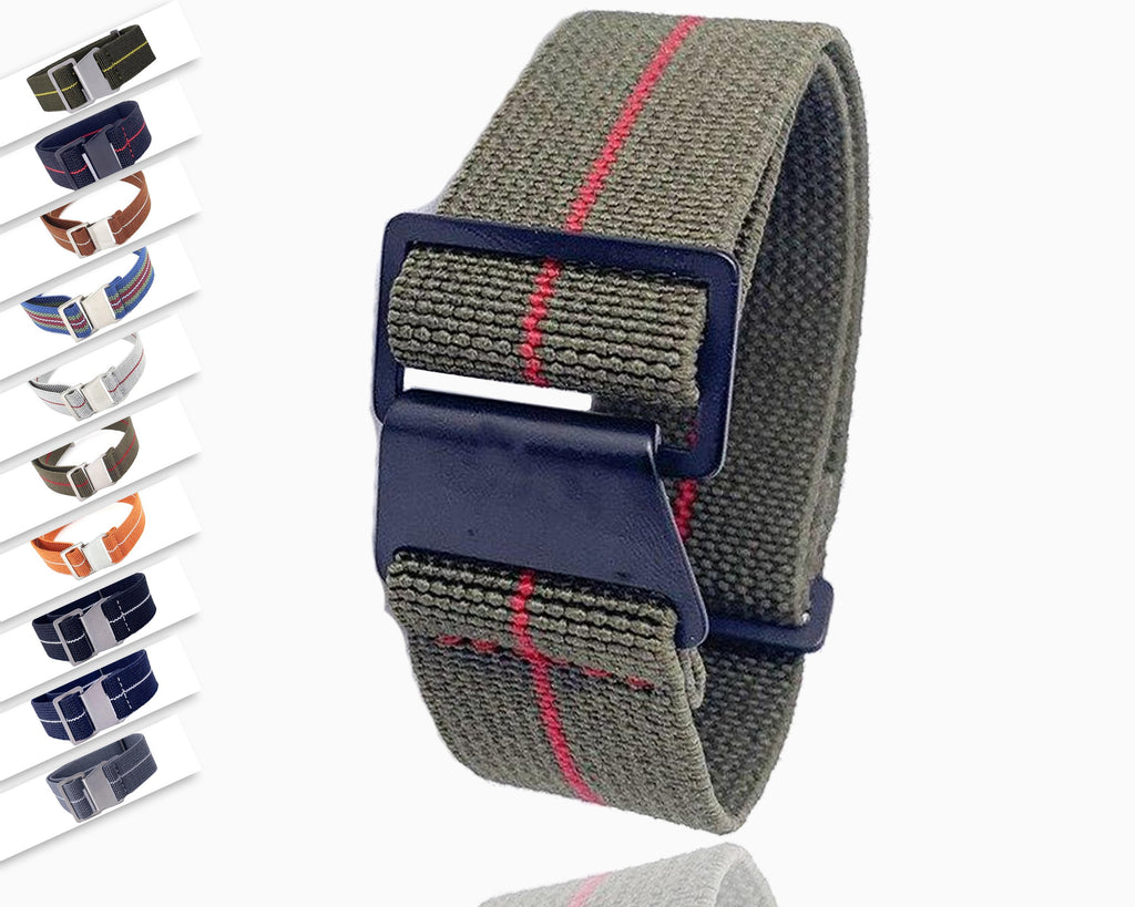 Watchbands 20mm 22mm Nylon Elastic Galaxy Watch Strap Band Sport Watch Band for Amazfit Huami Watch Nylon Watch Replacement - USA Fast Shipping